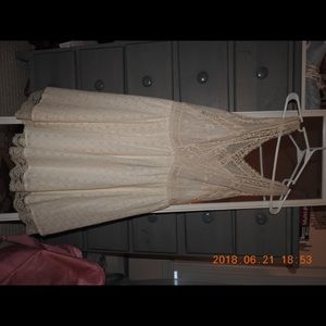 Cream, lace, Freepeople dress size 10.